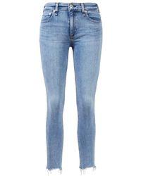 Rag & Bone - Jeans 'Cate Midrise Ankle Skinny' Blau - Lyst