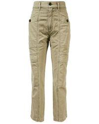 Agolde Jeans im Cargo-Stil 'Kai Cargo' Khaki - Natur