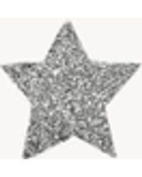 Carolina Bucci Sternenförmiger Ohrstecker 'Superstellar' 18K Weißgold - Mettallic