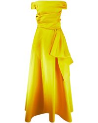 Talbot Runhof Seiden-Abendkleid Gelb