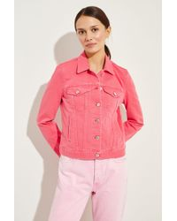 7 For All Mankind - Jeansjacke 'Modern Trucker' Pink - Lyst