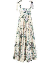 Zimmermann Baumwoll-Kleid 'Cassia' Multi - Blau