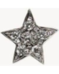 Carolina Bucci Verzierter sternenförmiger Ohrstecker 'Superstellar' mit 18 Karat Weißgold - Mettallic