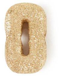 Carolina Bucci Anhänger 'Sparkly Letter O' 18K Gelbgold - Mettallic