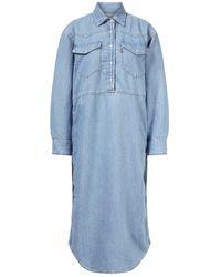 Ganni Jeans-Kleid Blau