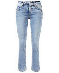 Cambio - Slim Fit Jeans 'Tess Straight Short' Hellblau - Lyst