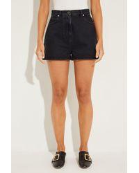 Valentino - Jeans-Shorts mit Logo-Aufdruck Schwarz 100% Baumwolle - Lyst