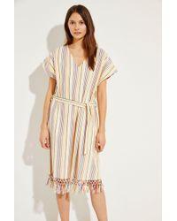 Muzungu Sisters Maxi-Kleid mit Streifenmuster Créme/Multi - Mehrfarbig