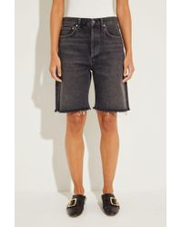 Agolde - Jeans-Bermuda '90's Mid' Grau 100% Baumwolle - Lyst