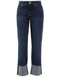 Cambio Straight Leg Jeans 'Paris Straight Short' Blau