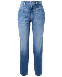 Cambio High-Rise-Jeans 'Kadlin' Blau