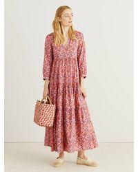 Muzungu Sisters Baumwoll-Kleid 'Frangipani' mit Blumen-Print Pink