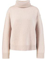 Allude Cashmere-Pullover mit Rollkragen Rosé - Mehrfarbig