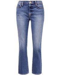 FRAME Gerade Jeans 'Le High Straight' Blau