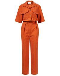 Nanushka Overall 'Paige' Orange