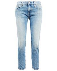 AG Jeans Baumwoll-Jeans 'The Ex-Boyfriend' Hellblau
