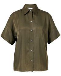 Vince Seiden-Bluse Khaki - Grün