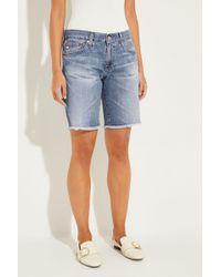 AG Jeans - Jeans-Bermudas 'Nikki' Blau - Lyst