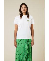 Ganni - T-Shirt 'Harway' Weiß 100% Baumwolle - Lyst