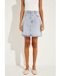 Citizens of Humanity - Midi-Jeansrock 'Lorelle' Blau 100% Baumwolle Made in USA - Lyst