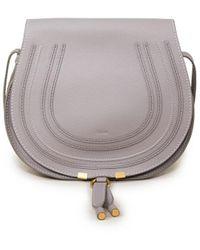 Chloé Umhängetasche 'Marcie Medium Saddle' Cashmere Grey - Grau