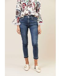 Citizens of Humanity - High Rise Skinny Jeans 'Rocket Crop' Blau - Lyst