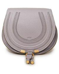 Chloé Umhängetasche 'Marcie Mini Saddle' Grau