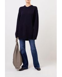 The Row Langer Cashmere-Pullover 'Vaya' Marineblau 100% Cashmere Made in USA