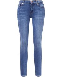 7 For All Mankind Slim Fit Jeans 'the Skinny' Dunkelblau