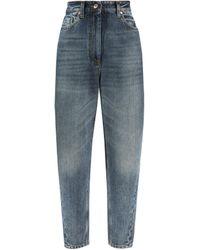 Brunello Cucinelli Mom-Fit Jeans Mittelblau