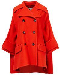 Lanvin Woll-Cashmere Mantel Rot