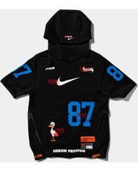 Nike - Heron Preston Embroidered Printed Neoprene Hoodie - Lyst