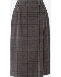 Uniqlo - Women Checked High-waist Narrow Skirt - Lyst