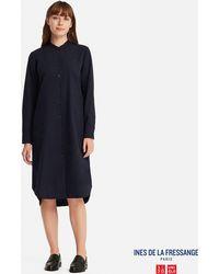 Uniqlo - Women Soft Flannel Long-sleeve Dress (ines De La Fressange) - Lyst