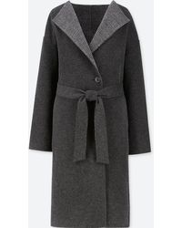 Uniqlo - Women Double Face Collarless Coat - Lyst