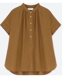 Uniqlo | Women Linen Blended Short-sleeve Blouse | Lyst