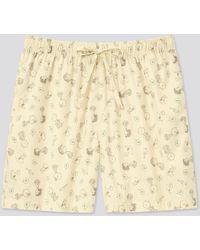 Uniqlo Shorts Stampa UT Peanuts Cotone Relaco - Neutro