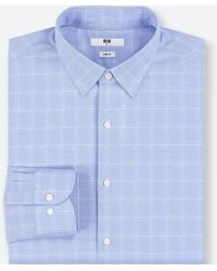 Uniqlo - Men Easy Care Checked Slim-fit Long-sleeve Shirt - Lyst