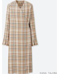 Uniqlo - Women Rayon Wrap Checked Long-sleeve Tunic (hana Tajima) - Lyst