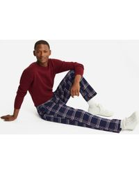 Uniqlo - Flannel Checked Lounge Trousers - Lyst