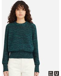 890cb47be Lyst - Uniqlo Women U Merino Blend Dolman Sleeve Sweater in Black