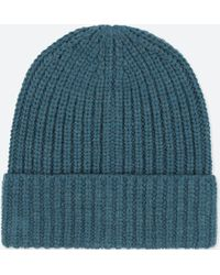 Uniqlo Men Wool Cap in Blue for Men - Lyst 1811db11b8a8