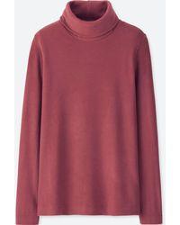 Uniqlo - Women Heattech Fleece Turtleneck Long-sleeve T-shirt - Lyst