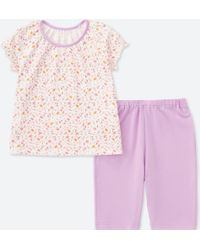 Uniqlo - Toddler Dry Short-sleeve Pajamas (online Exclusive) - Lyst