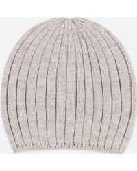 4465f9cccca Lyst - Uniqlo Heattech Knitted Cap in Natural