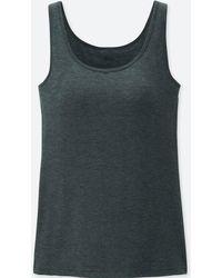 bbf86b6a44410 Lyst - Uniqlo Women Heattech Sleeveless Bra Top in Natural