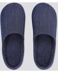 Uniqlo Zapatillas Casa Efecto Vaquero (Suela de goma) - Azul