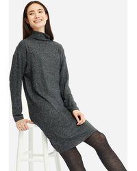 Uniqlo - Women Soft Knitted Fleece Long-sleeve Dress - Lyst