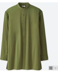 Uniqlo | Men U Broadcloth Stand Collar Long-sleeve Shirt | Lyst