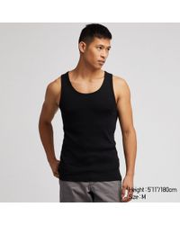 7a5d6bb6d8efe Uniqlo Men Packaged Dry Ribbed Tank Top in Green for Men - Lyst